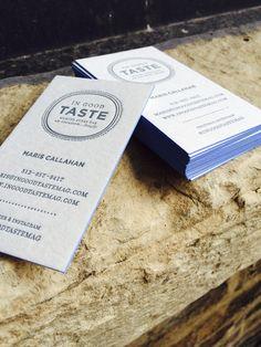 letterpress business cards by Miaso Design