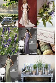 Lavender and Sage, these are the sorts of colours I mean for the ceremony to suit sand dunes and Liam's grey suit!
