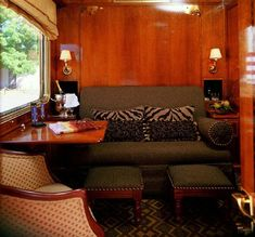 Blue Train (South Africa) - De luxe cabin. Loved  the blue train! Ideas for train car cabin at Adventures Unlimited Outdoor Ceter