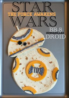 These Star Wars BB-8 Droid Quesadillas are a delicious and fun treat for the Star Wars fans in your family! Enjoy!
