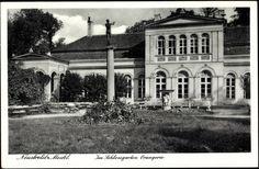 Ansichtskarte / Postkarte Neustrelitz Mecklenburg, Im Schlossgarten, Orangerie