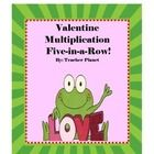 FREE Valentine Multiplication 5-in-a-Row!  Valentine Multiplication 5-in-a-Row is a fun way to learn multiplication facts. Students take turns roll...