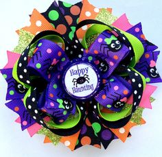 Halloween Hair Bow Spider Hair Bow by LittleKatieCouture on Etsy