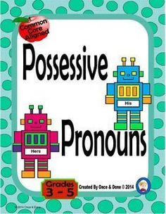 Possessive Pronoun Activity for whole class, small groups, or independent literacy station work during guided reading. Students read a sentence and choose the correct possessive pronoun. Includes a game board and a set of task cards for extra practice.Inc