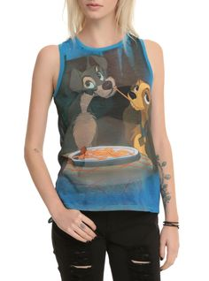 Disney Lady And The Tramp Dinner Girls Muscle Top | Hot Topic