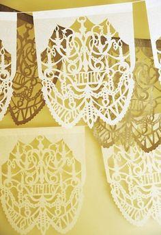 custom paper garlands by Ay Mujer!