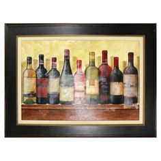 Wine Table Framed Wall Art - BedBathandBeyond.com