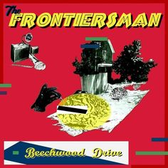 """Beechwood Drive"" EP cover art.  ©2014 The Frontiersman.  Modern Art Deco streamline indie rock diy mixtape punk dada abstract memphis milano style hipster ep e.p. album cover pink yellow black white blue red green brain robot sci fi scifi new digital analog guitar edm electrobilly music classic best covers greatest all time ever artwork post electronic frontiersman beechwood drive god surgery lp album"