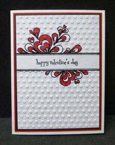 *CAS205 TLC414 Faux Quilled Valentine by hobbydujour - Cards and Paper Crafts at Splitcoaststampers