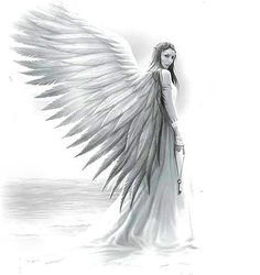 Image result for angel walking drawing