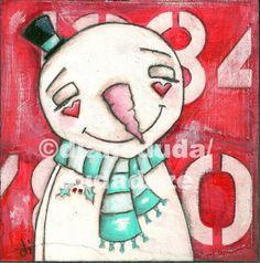 "Duda Daze - silly little works of art"" ORNIES "" (ORNAMENTS)"