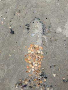 A sweet sandcastle mermaid at Topsail 2015.