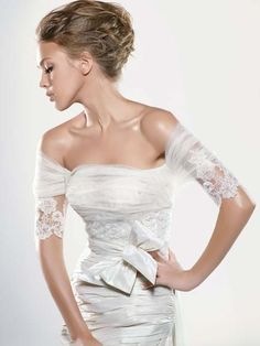 I can picture classy, outdoor wedding in this dress.