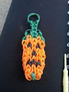 Happy Halloween Keychain- Rainbow Loom