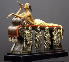 "Erte (Romain de Tirtoff) ""Daydreams Bronze Sculpture"""