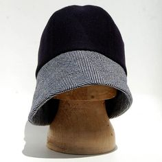 Art deco fashion designer hat for women| Indigo ZUTmanon 1920s inspired cloche hat in Italian felt and vintage French tweed