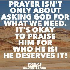God deserves our praise