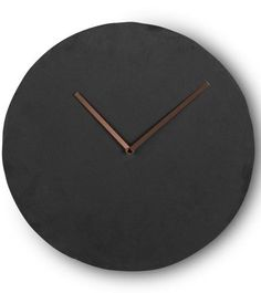 the miner wall clock in slate and copper strong slate with a cool contrast of