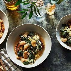 Beans and Greens Soup Recipe -- a Meditteranean classic combo. Love this dish on a cold winter day.