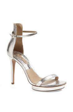 Michael Kors Genuine Snakeskin Sandal available at #Nordstrom