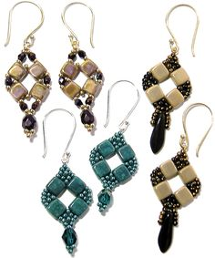 Coin Earrings   Bead-Patterns.com