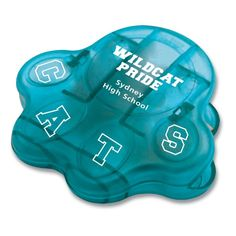 Paw-shaped bag clips with 24HR turnaround! In Translucent Aqua color. $1.15 ea for 250, $.99 ec. for 500