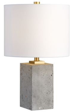 It's all natural with our Shani Table Lamp. Softly stained concrete with beautiful, unique speckles and brushed gold details are accented with a simple linen shade. This is a match made in heaven if you're looking for a statement piece with heavier visual weight, but still light in color.