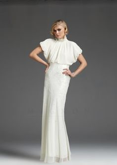 Channeling a Little Downton Abbey inspired wedding dress. Modest with soft sleeves.