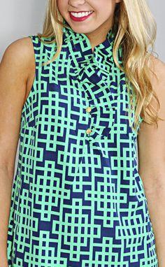 whitney sleeveless ruffle tunic - green--Get 15% off + Free Shipping on ShopRiffraff.com when you use code 'RiffraffRepLauren' at checkout!