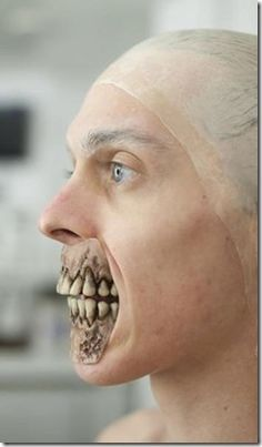Halloween disguise as shocking cool horrible walking dead zombie makeup special effect (2)