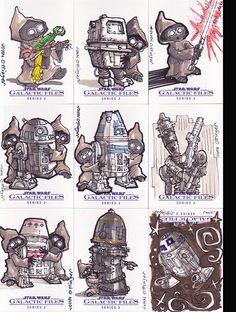Star Wars Galactic Files 2 sketch cards on Behance