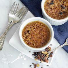 Vanilla Chocolate Chai Brûlée | 37 Tea Desserts That Are Almost Too Pretty To Eat