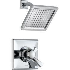 Delta Dryden Chrome 1-Handle Shower Faucet Trim Kit with Rain Showerhead