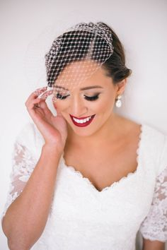 "{Kissable Complexions} gorgeous bridal makeup look using Lime Crime ""Velvatine"" lip color."