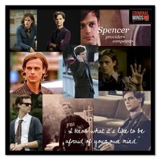 """""""Spencer Reid"""" by band-and-book-nerd ❤ liked on Polyvore featuring art, CriminalMinds, reid, spencerreid and BAU"""