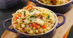 Slow-Cooker Barley & Chickpea Risotto