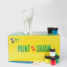 Have a go at creating your very own unique Shaun figurine with this kit - buy online at http://www.wallaceandgromitcharityshop.org.uk/collections/shaun-in-the-city-1/products/paint-your-own-shaun-figurine
