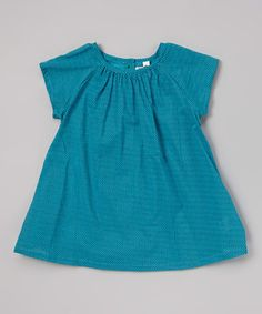 Another great find on #zulily! Blue Zigzag Swing Top - Infant, Toddler & Girls by Rim Zim Kids #zulilyfinds