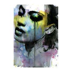 "Painting Print Large Watercolor Mixed Media 28""X20"""