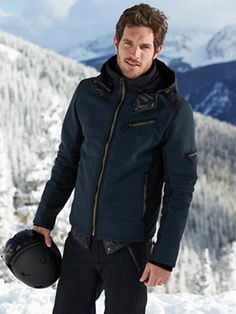 Men's fashion / naby blue ski jacket and pants fashion for men l #mens