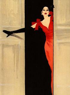René Gruau historical fashion illustrations.