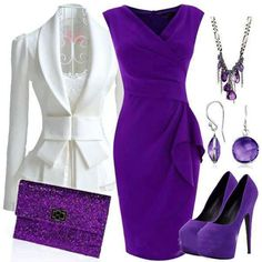 purple outfit for fall