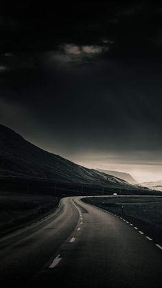 Dark Sky Road IPhone Wallpaper - IPhone Wallpapers