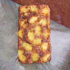 Vegan, Oil Free Pineapple Banana Bread Recipe  This tropical twist on banana bread is moist, dense and super delicious.