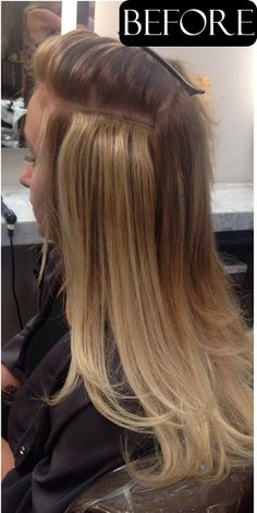 The safest and cheapest hair extension method for short and thin hair lingere extensions before and after pmusecretfo Choice Image