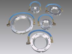 Nex Flow Ring Blade™Air Wipe comes in numerous standard sizes and can also be customized on special request. It produces an even 360 degree blow-off for industrial tubes, cables, hose, wires, pipes. Blow Off, Noise Levels, Compressed Air, Save Energy, Blade, Flow, Ceiling Lights, Rings, Ring