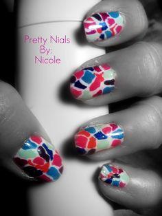 Nail art: Broken Tiles by ~ninjanatus84 on deviantART