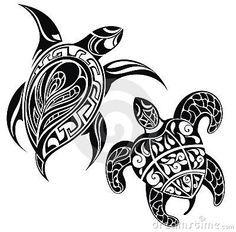 Tartaruga uma ilustração do vetor da silhueta