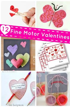 List of Kids Valentines to bring to school for classmates. Each one promotes fine motor skills for kids!