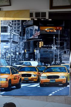 New York taxi acrílica sobre tela New York Taxi, Times Square, Travel, Tela, Voyage, Viajes, Traveling, Trips, Tourism